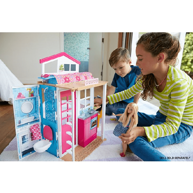 Barbie 2-Story House 2017 DVV47 4