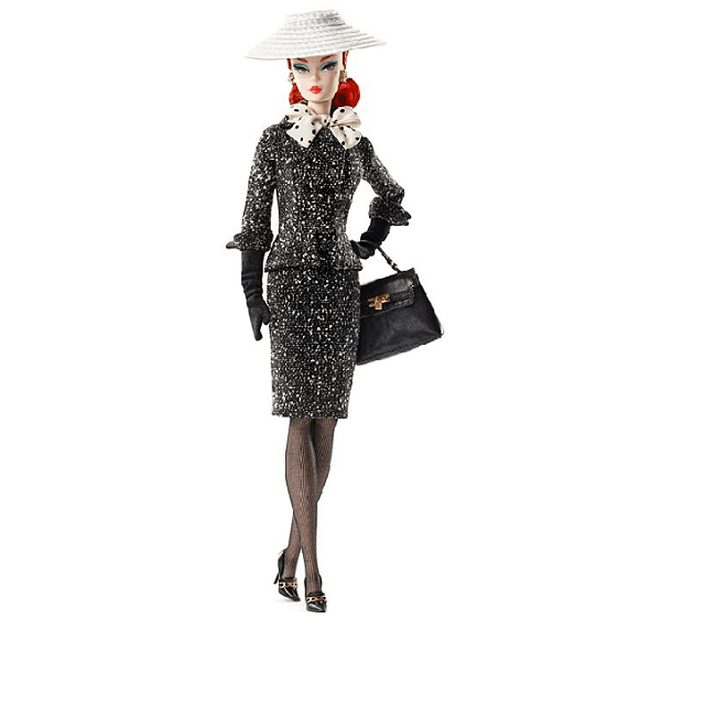Black and White Tweed Suit Barbie Doll DWF54 4