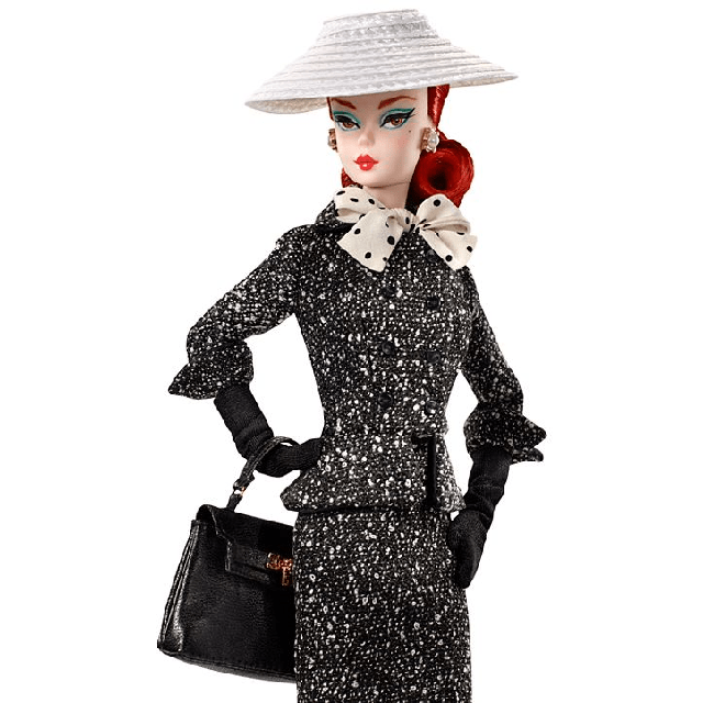 Black and White Tweed Suit Barbie Doll DWF54