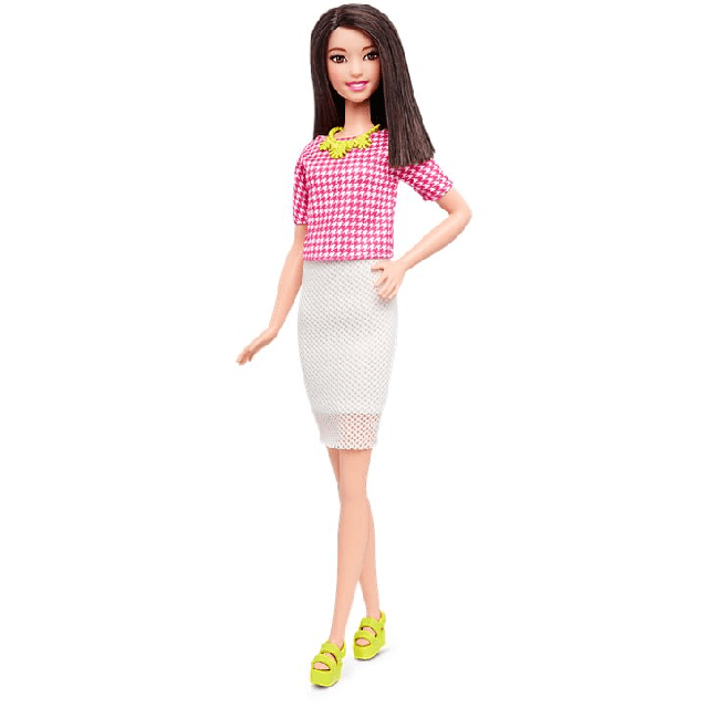 Barbie Fashionistas Doll 30 White & Pink Pizzazz - Tall DMF32