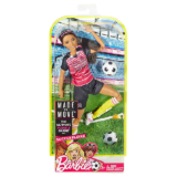 Барби подвижная артикуляция 22 точки - Футболистка / Barbie Made to Move Ultimate Posable Soccer Player