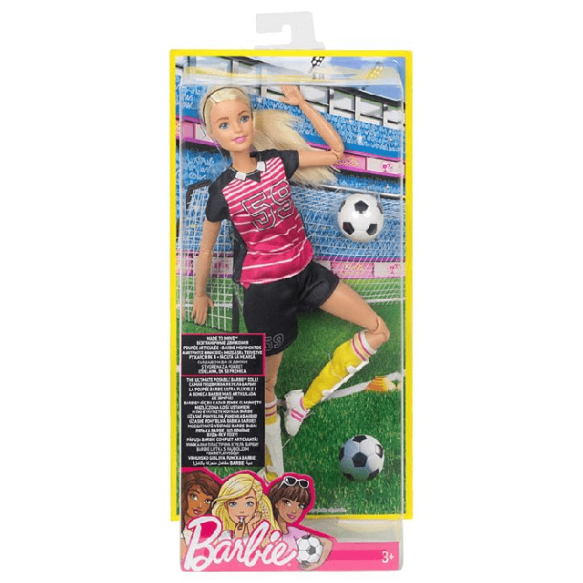 Barbie Made To Move Soccer Player DVF69 3