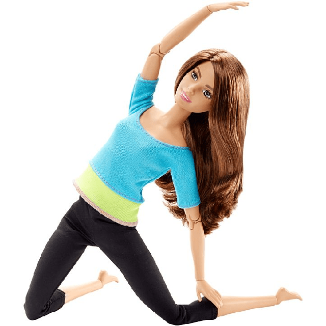 Barbie Made to Move Barbie Doll, Blue Top DJY08 2