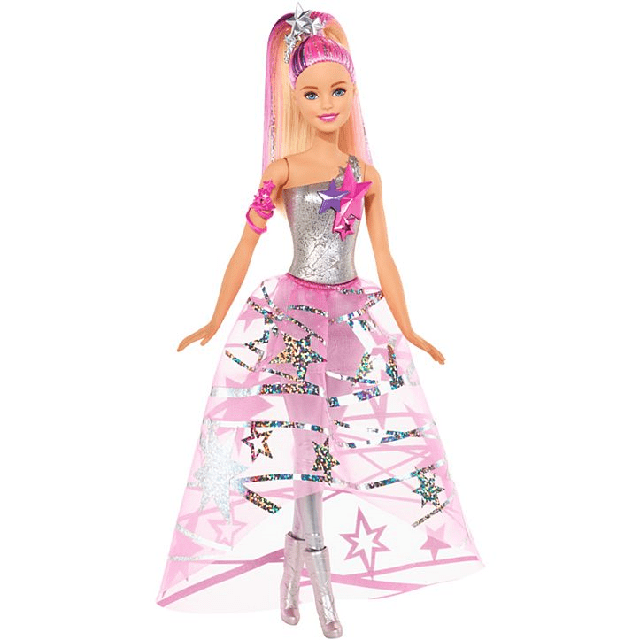 Barbie Star Light Adventure Doll in Gown DLT25