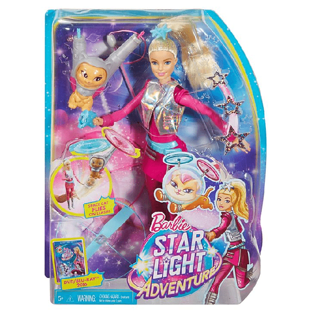 Barbie Star Light Adventure & Flying Cat DWD24 6