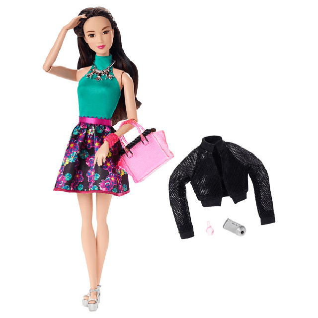 Barbie Style Glam Doll with Flower Skirt Dress CLL36