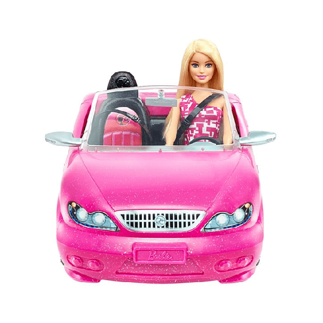 Barbie Doll and Glam Convertible DJR55 2