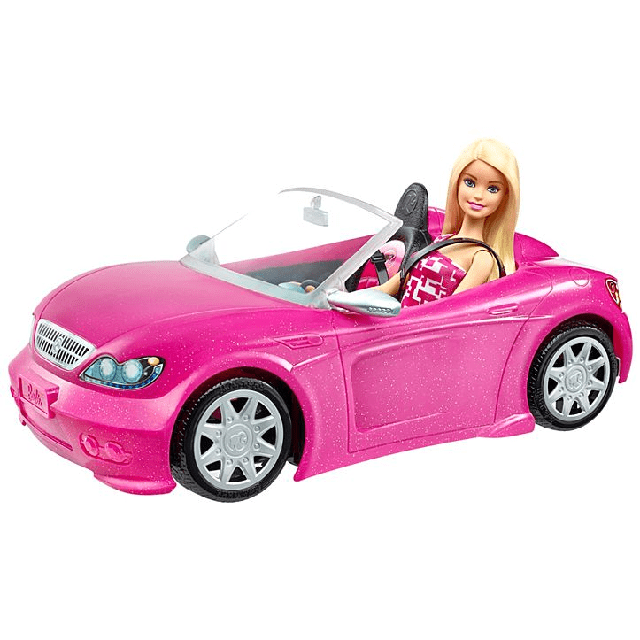 Barbie Doll and Glam Convertible DJR55