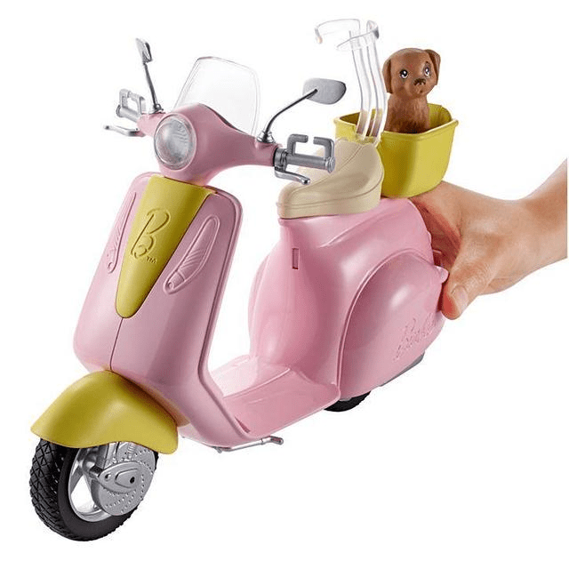 Barbie Scooter & Puppy DVX56 1