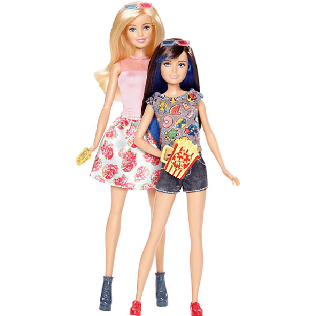 Barbie & Skipper Dolls – 3D Movie Barbie Sisters DWJ65