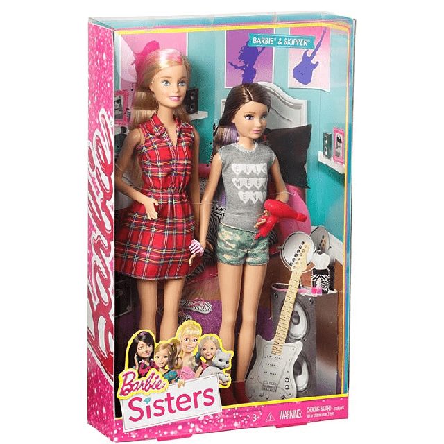 Barbie and Skipper Dolls 2 Pack DGX42 4