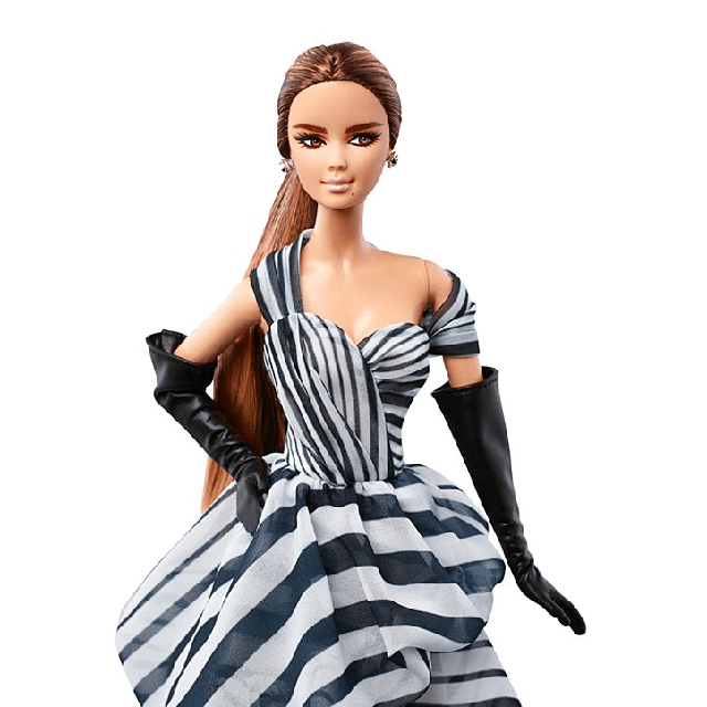 Black and White Collection Chiffon Ball Gown Barbie DGW59 1