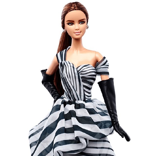 Black and White Collection Chiffon Ball Gown Barbie DGW59 2