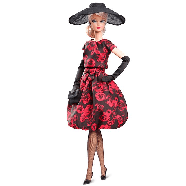 Barbie Elegant Rose Cocktail Dress Silkstone Силкстоун FJH77